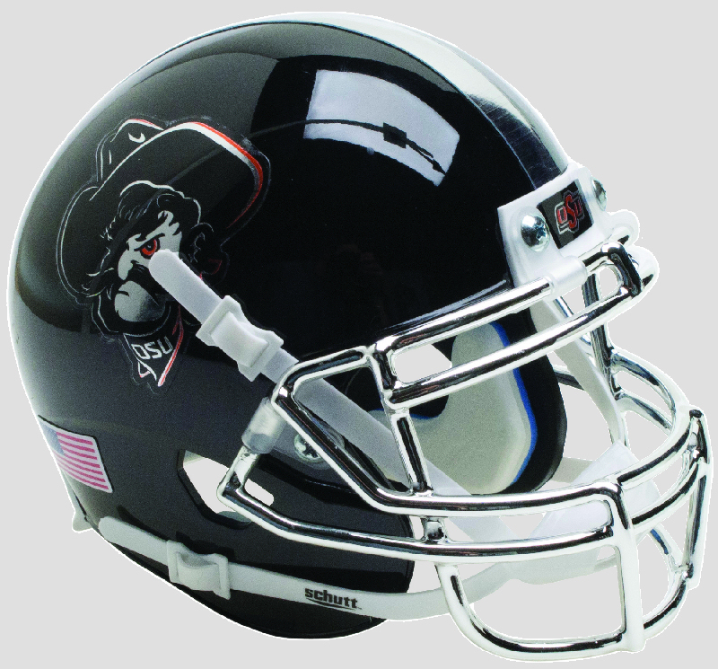 Oklahoma State Cowboys Authentic College XP Football Helmet Schutt <B>Black Icy Pistol Pete</B>