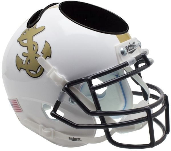 Navy Midshipmen Miniature Football Helmet Desk Caddy <B>White</B>