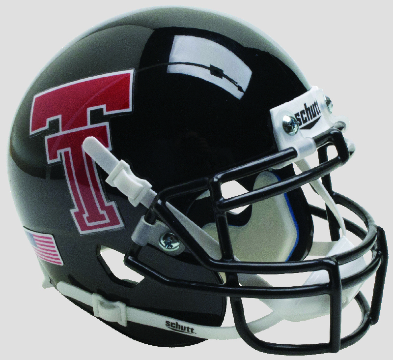 Texas Tech Red Raiders Authentic College XP Football Helmet Schutt <B>Black</B>