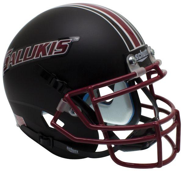 Southern Illinois Salukis Mini XP Authentic Helmet Schutt <B>Matte Black</B>
