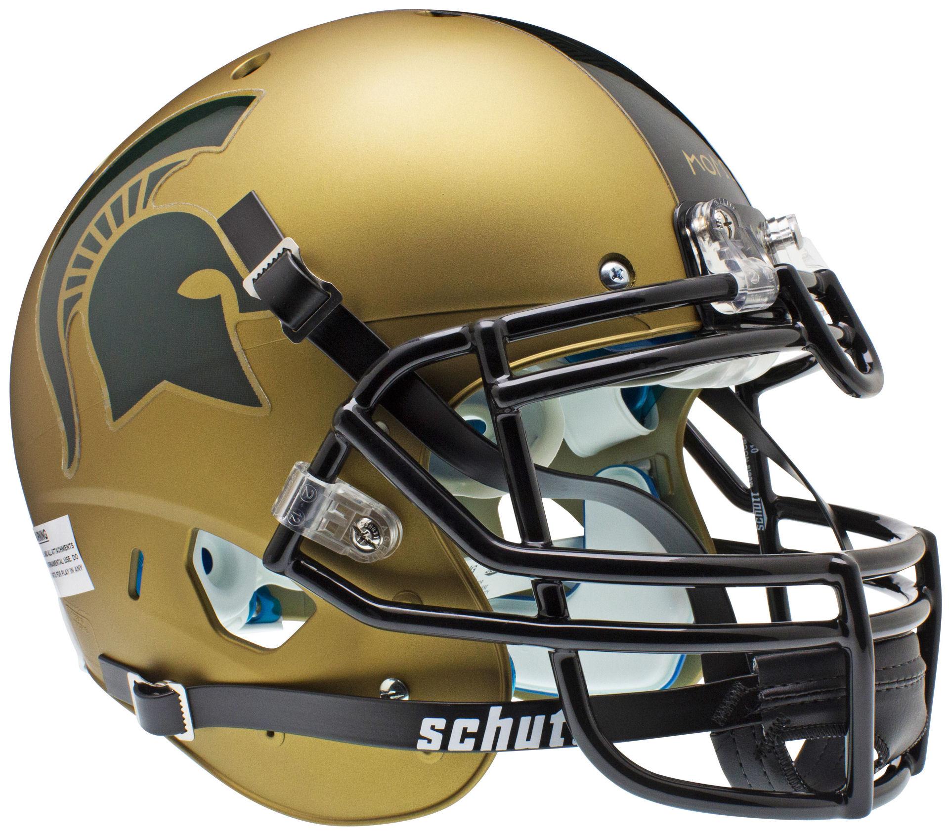 Michigan State Spartans Authentic College XP Football Helmet Schutt <B>Matte Gold</B>