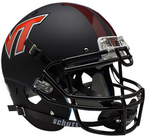 Virginia Tech Hokies Authentic College XP Football Helmet Schutt <B>Matte Black</B>