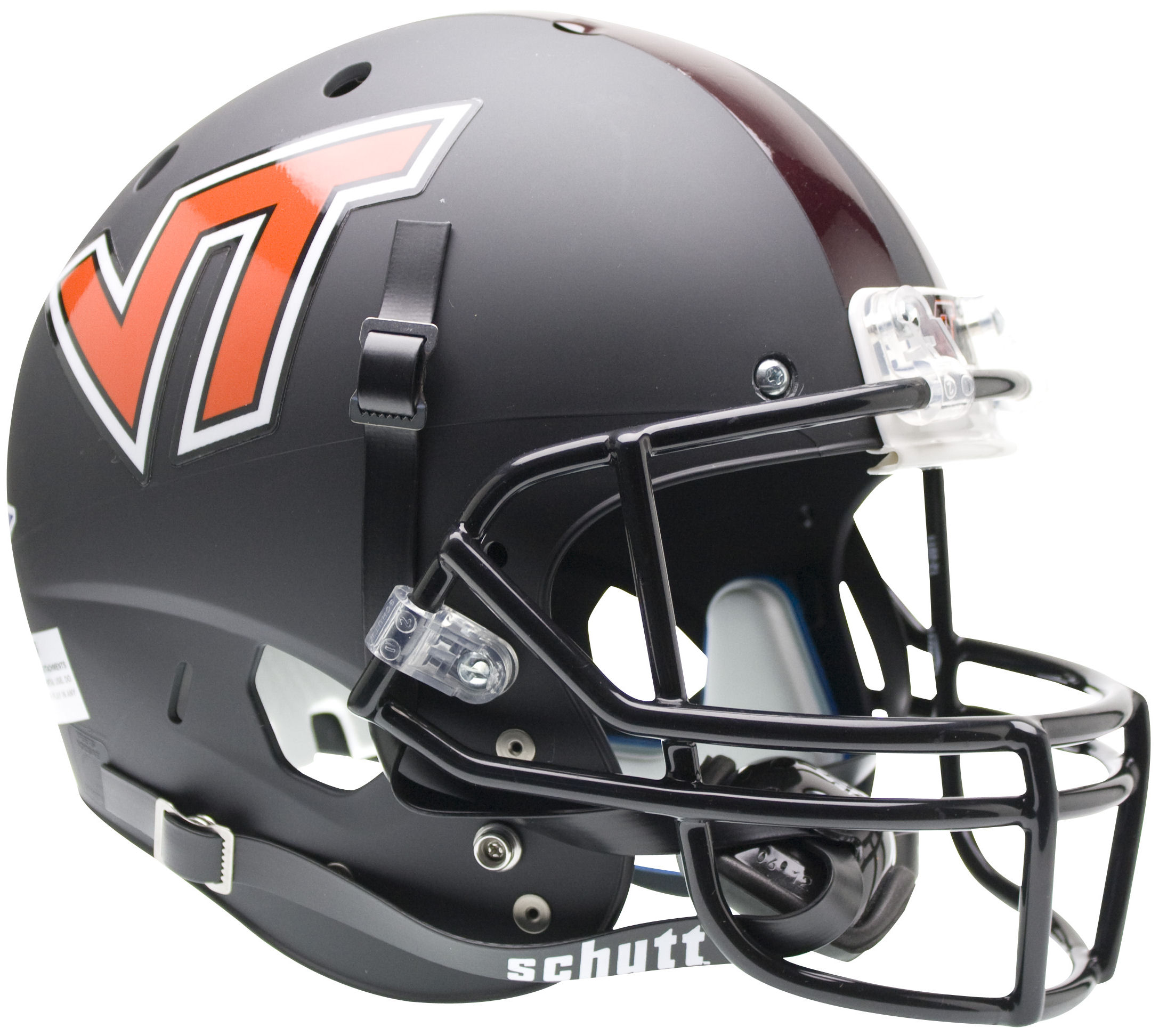 Virginia Tech Hokies Full XP Replica Football Helmet Schutt <B>Matte Black</B>