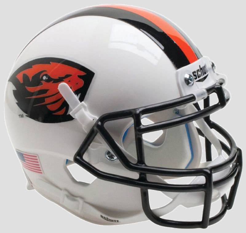 Oregon State Beavers Authentic College XP Football Helmet Schutt <B>Orange Beaver/Stripe</B>