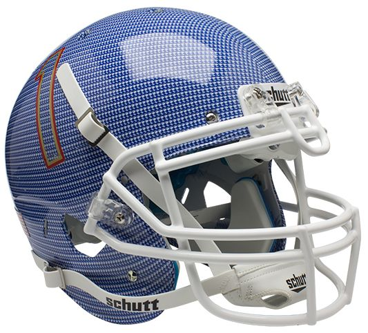 Tulsa Golden Hurricane Authentic College XP Football Helmet Schutt <B>Carbon Fiber</B>