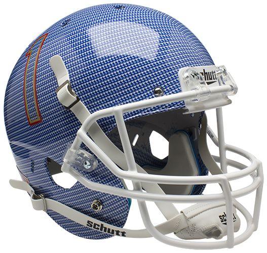 Tulsa Golden Hurricane Full XP Replica Football Helmet Schutt <B>Carbon Fiber</B>