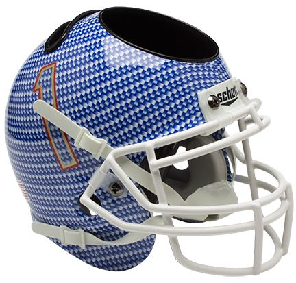 Tulsa Golden Hurricane Mini Football Helmet Desk Caddy <B>Carbon Fiber</B>