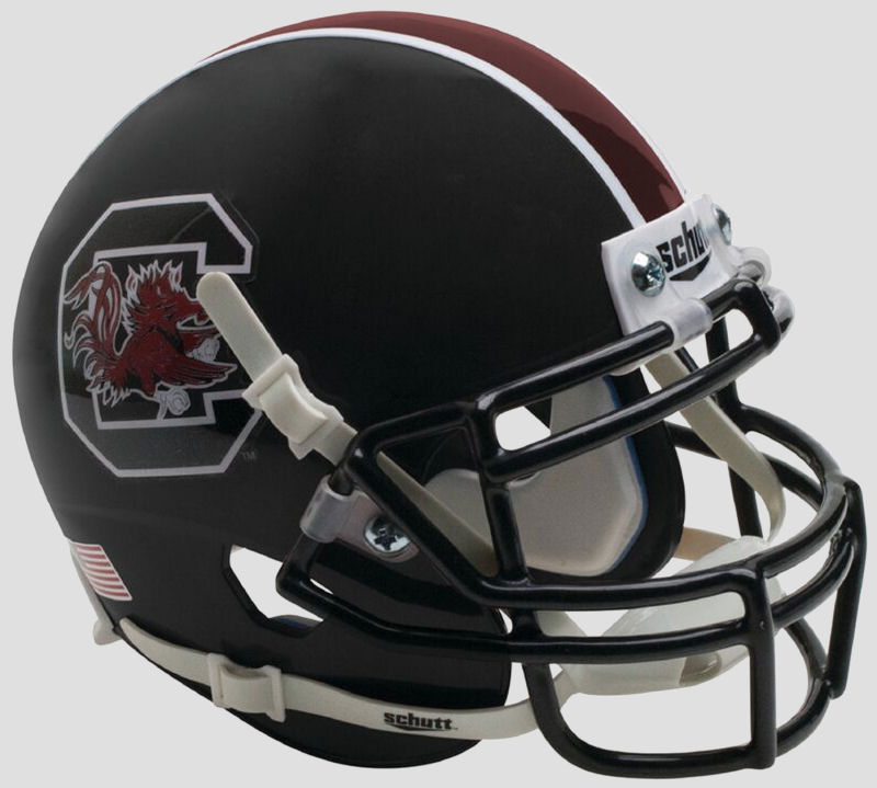 South Carolina Gamecocks Mini XP Authentic Helmet Schutt <B>Matte Black</B>