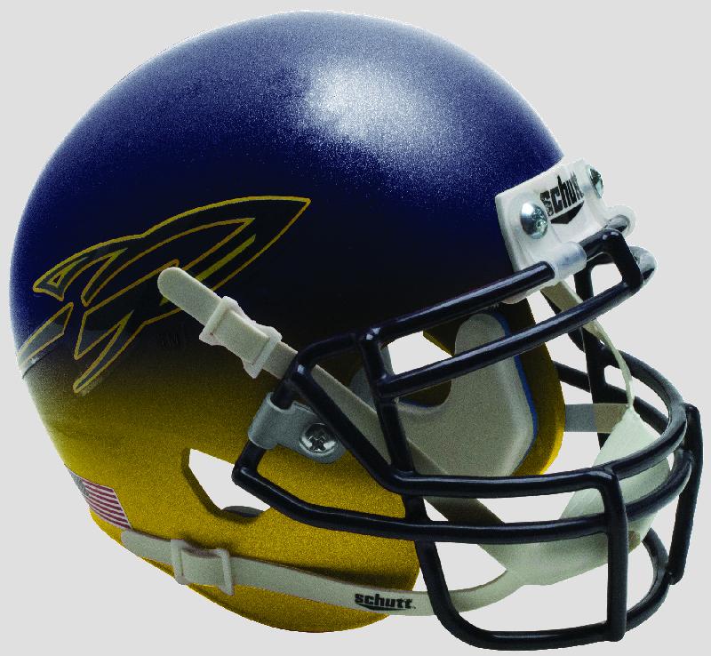 Toledo Rockets Mini XP Authentic Helmet Schutt <B>Navy/Yellow</B>