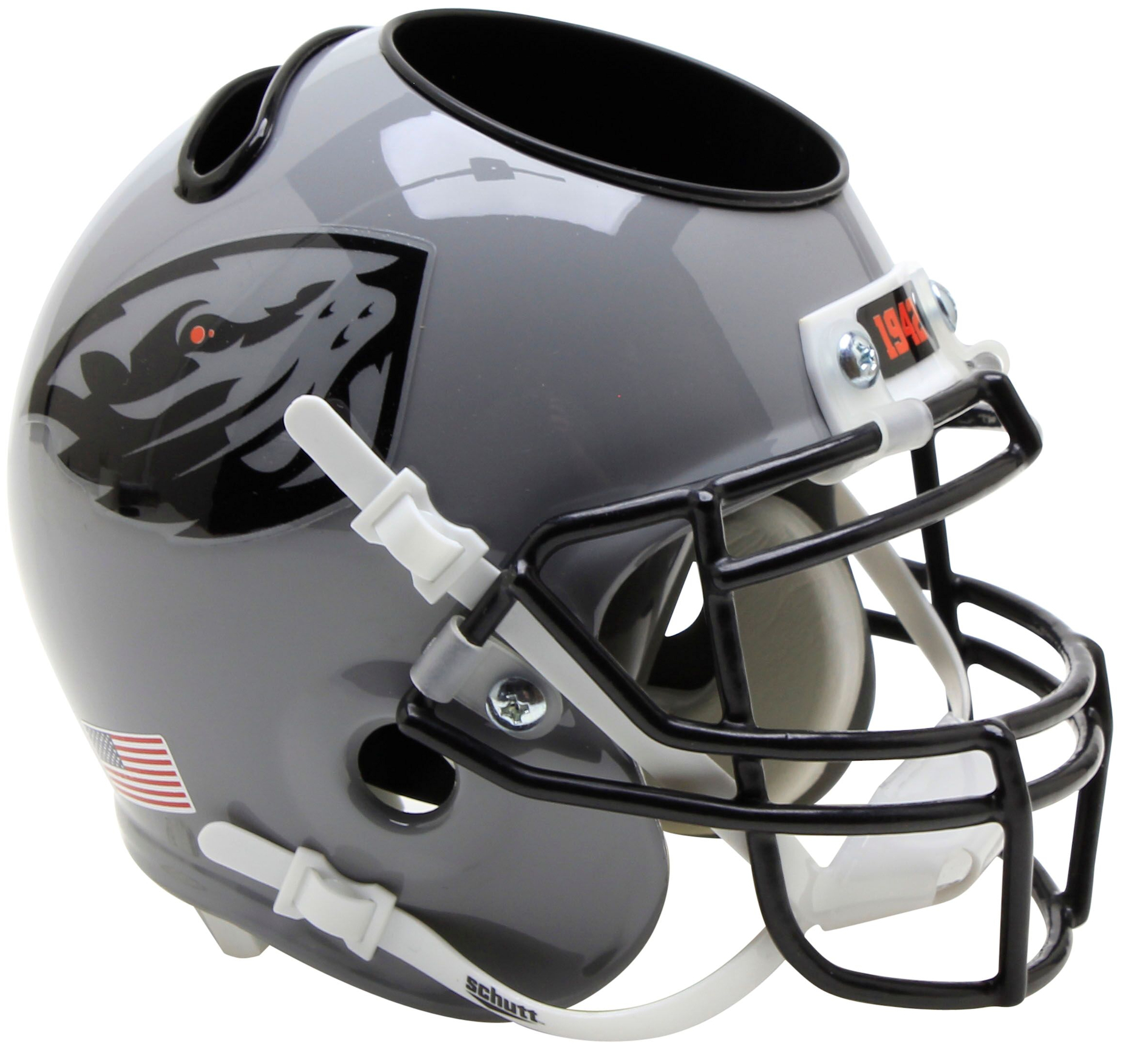 Oregon State Beavers Miniature Football Helmet Desk Caddy <B>Grey</B>