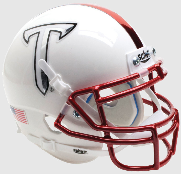 Troy State Trojans Miniature Football Helmet Desk Caddy <B>White</B>