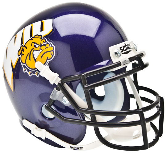 Western Illinois Leathernecks Mini XP Authentic Helmet Schutt