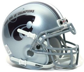 Kansas State Wildcats Big 12 Champ Schutt Mini Authentic Helmet