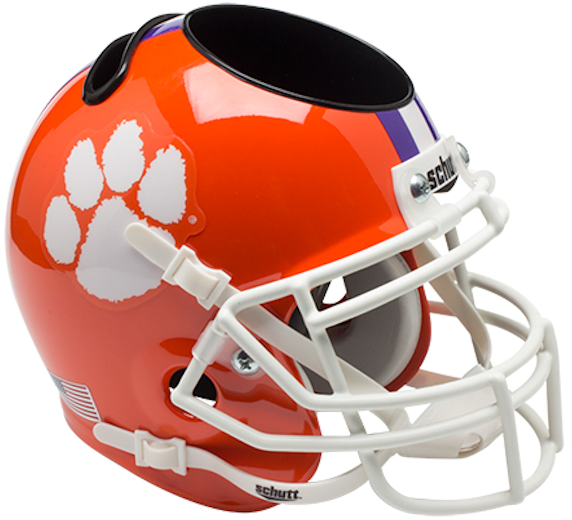 Clemson Tigers Miniature Football Helmet Desk Caddy