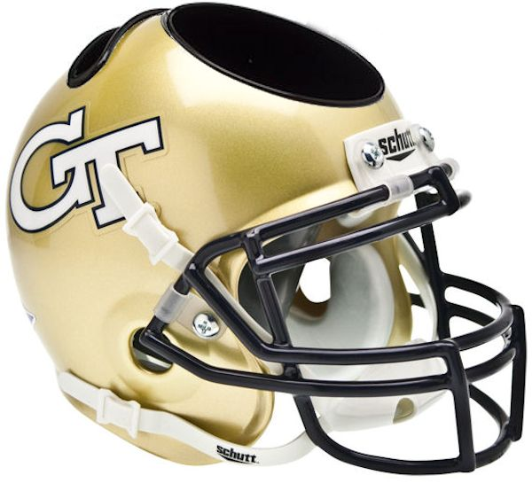 Georgia Tech Yellow Jackets Miniature Football Helmet Desk Caddy
