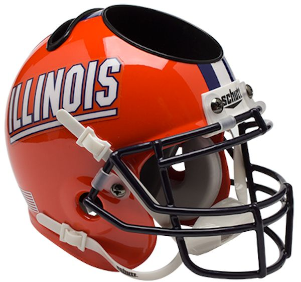 Illinois Fighting Illini Miniature Football Helmet Desk Caddy