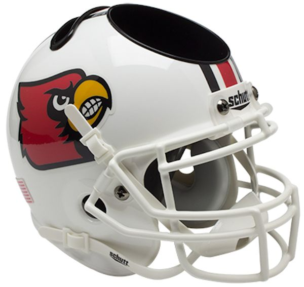 Louisville Cardinals Miniature Football Helmet Desk Caddy