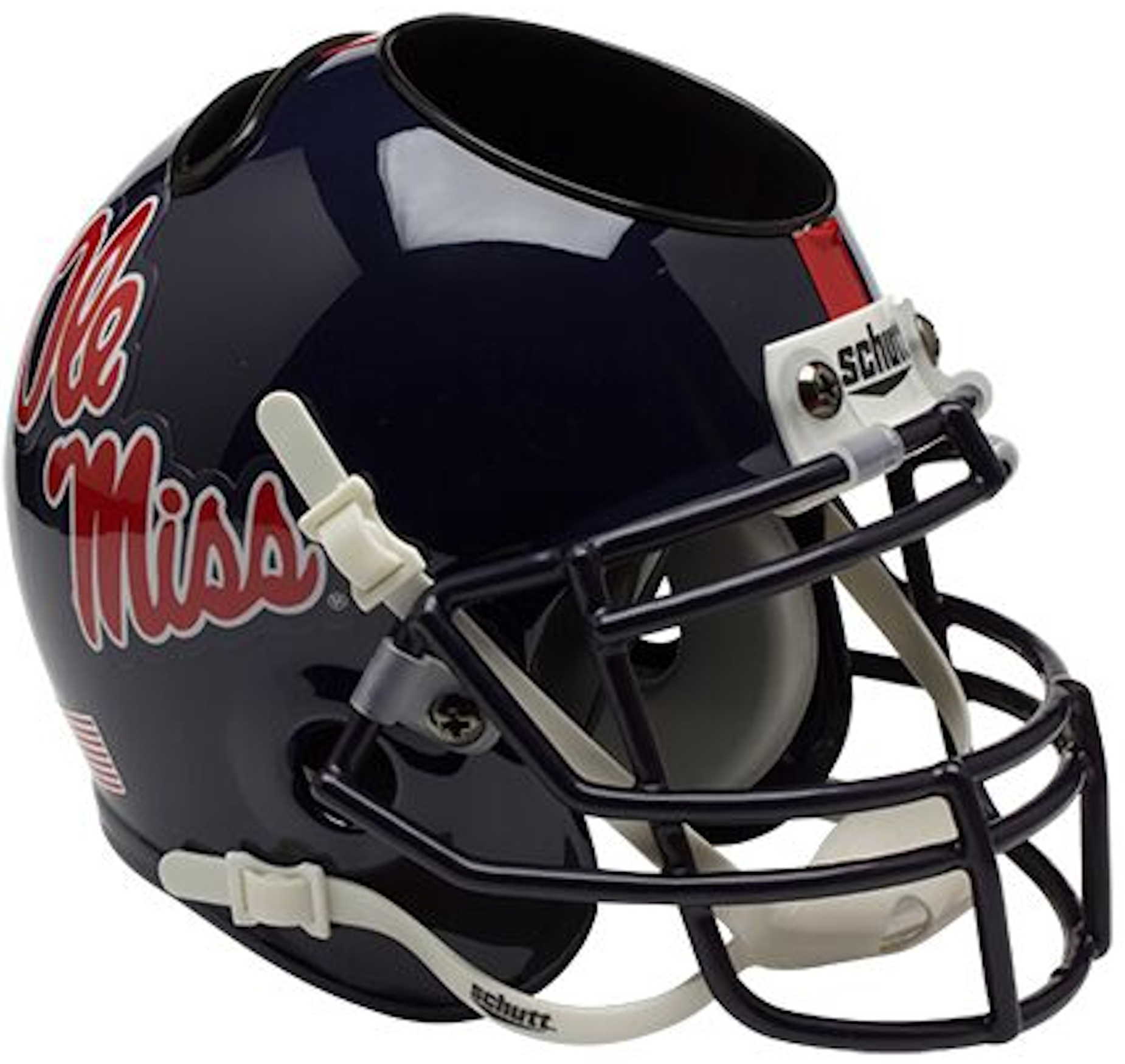 Mississippi (Ole Miss) Rebels Miniature Football Helmet Desk Caddy