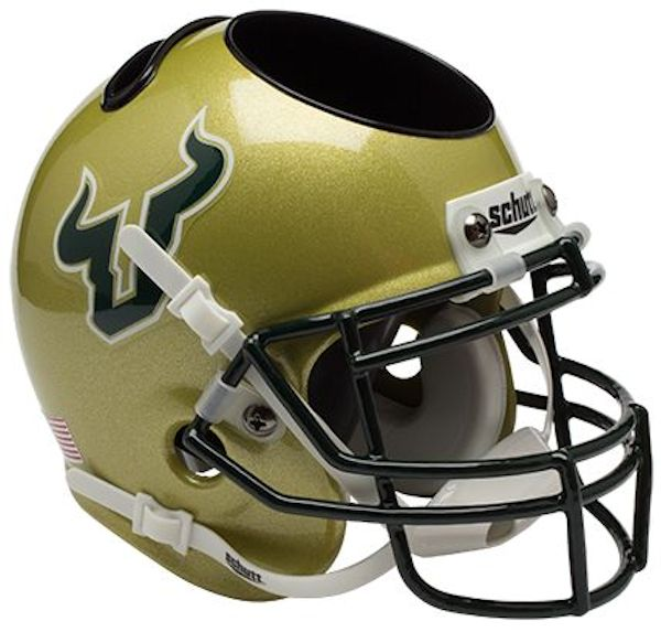 South Florida Bulls Miniature Football Helmet Desk Caddy
