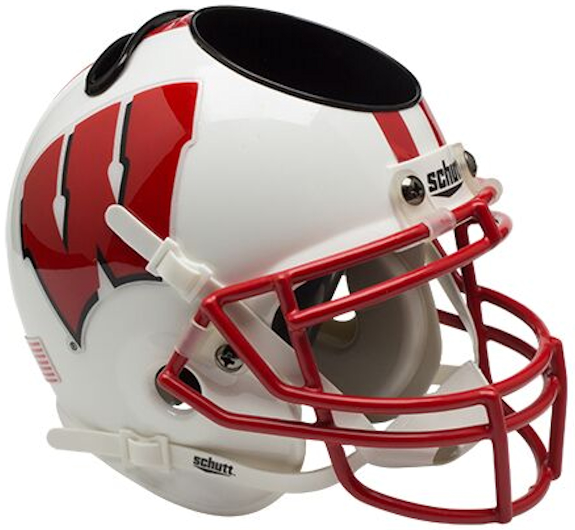 Wisconsin Badgers Miniature Football Helmet Desk Caddy