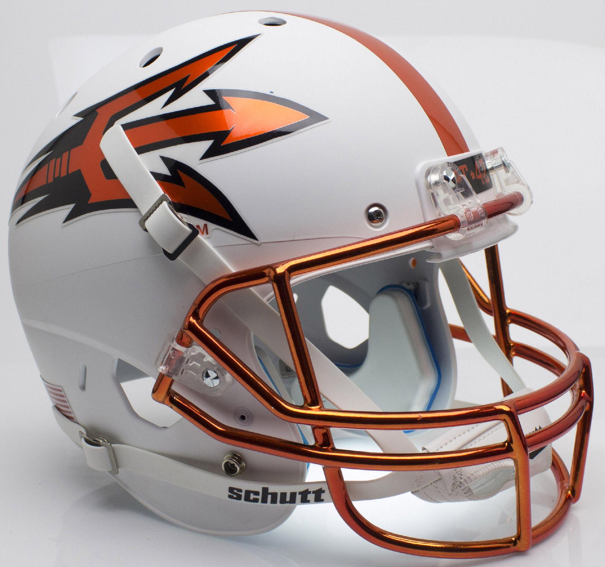 Arizona State Sun Devils Full XP Replica Football Helmet Schutt <B>Chrome Mask</B>