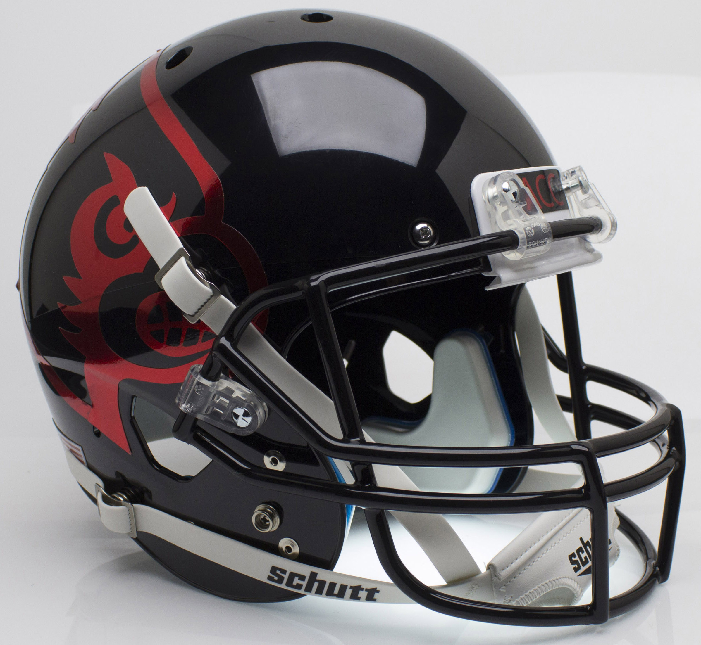 Louisville Cardinals Full XP Replica Football Helmet Schutt <B>Black</B>