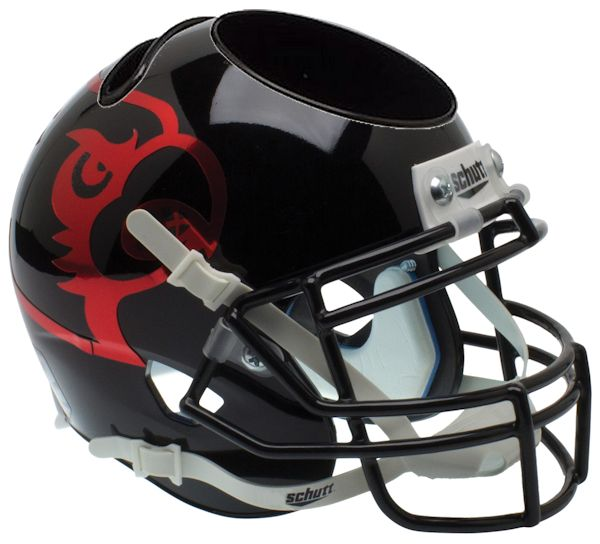 Louisville Cardinals Miniature Football Helmet Desk Caddy <B>Black</B>