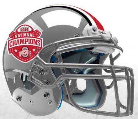 Ohio State Buckeyes 2014 National Champions Replica Football Helmet Schutt