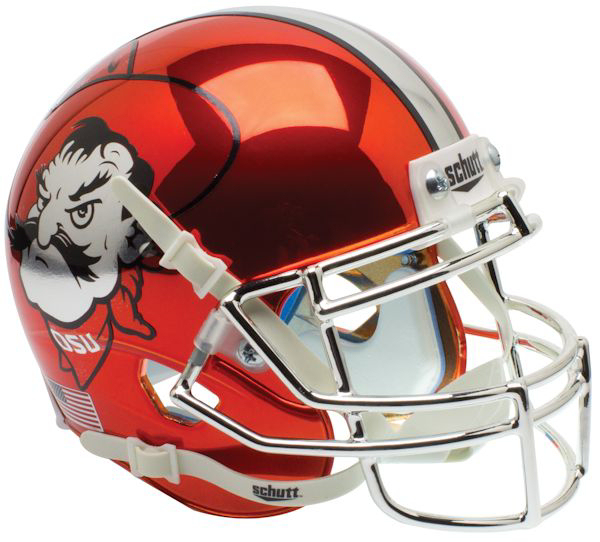 Oklahoma State Cowboys Authentic College XP Football Helmet Schutt <B>Orange Chrome</B>