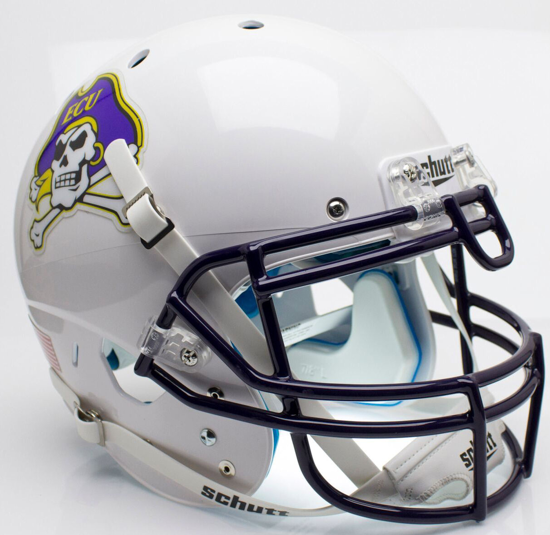 East Carolina Pirates Authentic College XP Football Helmet Schutt <B>White</B>