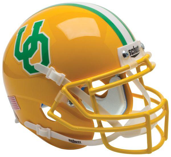 Oregon Ducks Mini XP Authentic Helmet Schutt <B>Yellow 1984-94 Throwback</B>