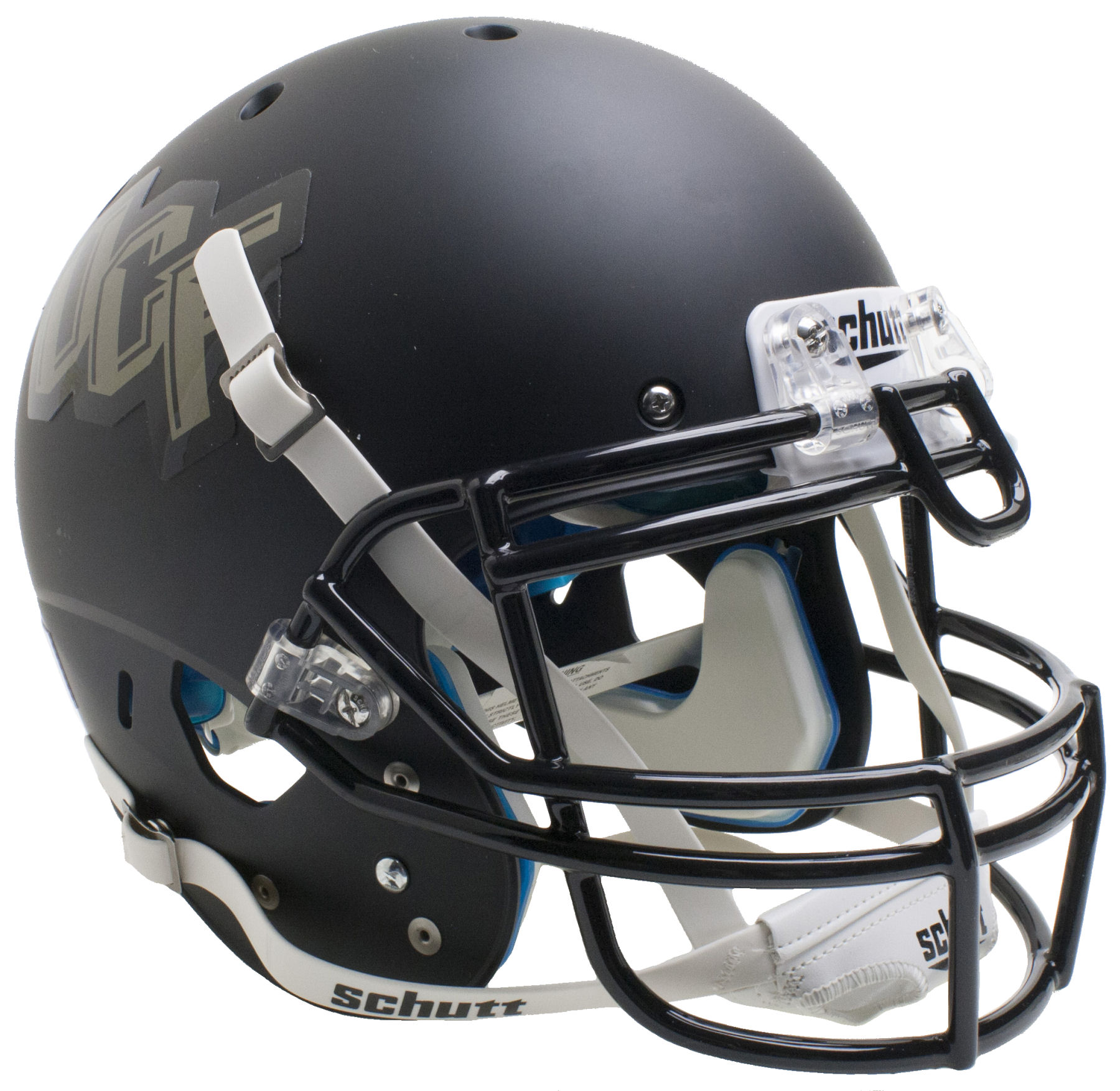 Central Florida Golden Knights Authentic College XP Football Helmet Schutt <B>Gray</B>