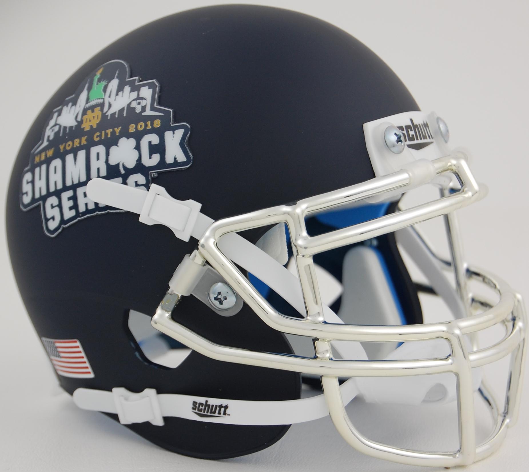 Notre Dame Fighting Irish Full XP Replica Football Helmet Schutt <B>Shamrock Series</B>