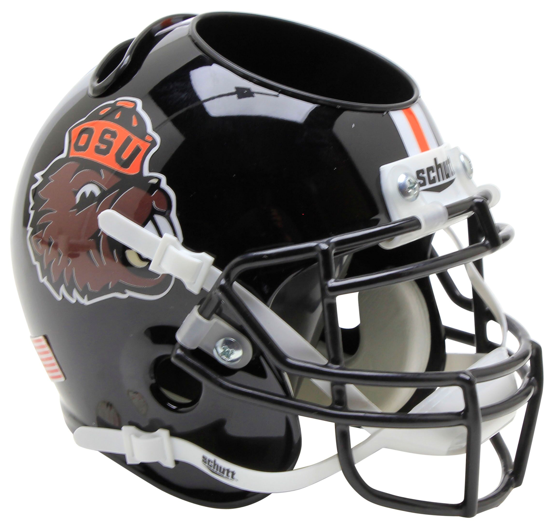 Oregon State Beavers Miniature Football Helmet Desk Caddy <B>Benny Beaver</B>