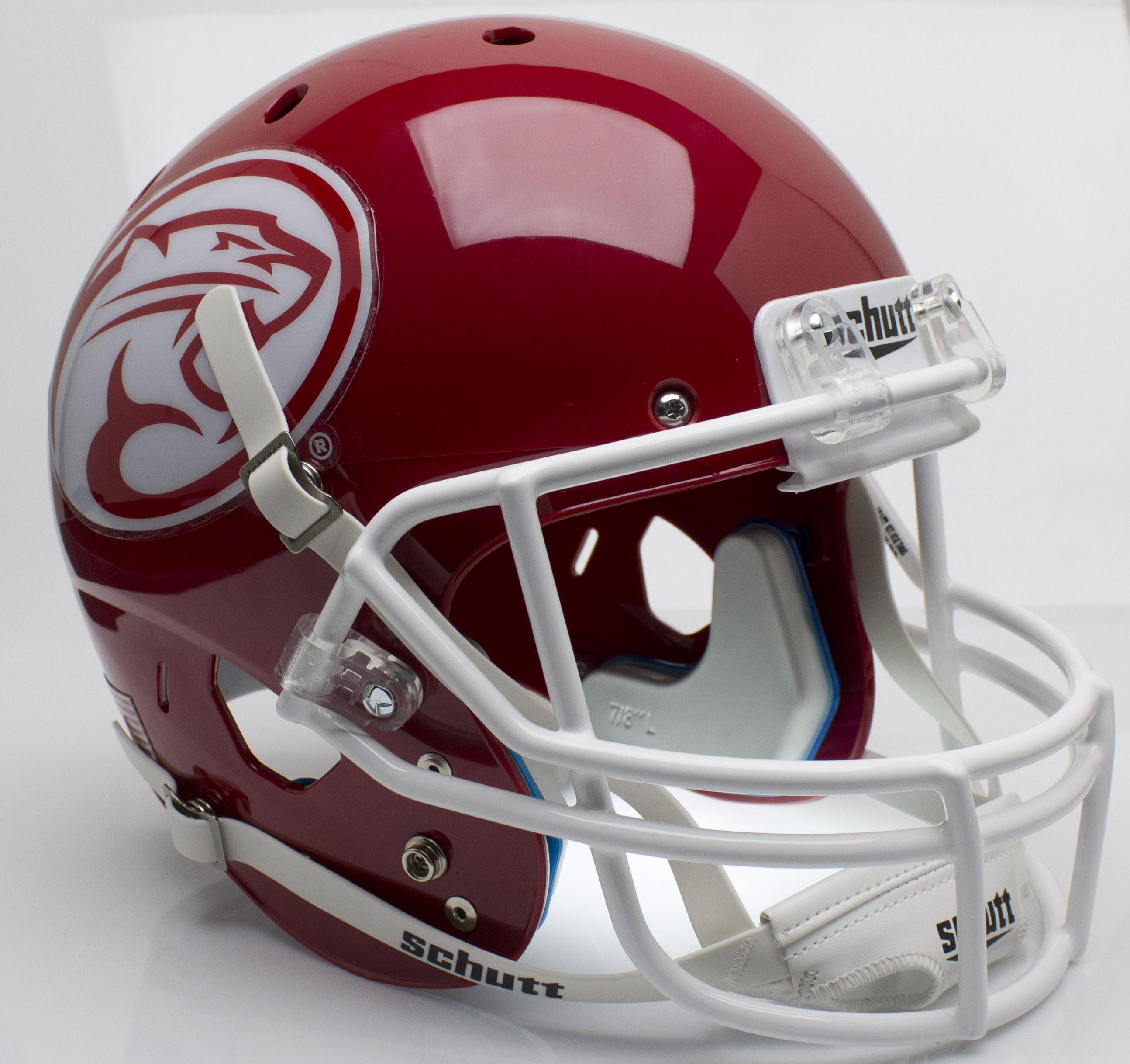 Houston Cougars Full XP Replica Football Helmet Schutt <B>Red</B>