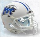 Middle Tennessee State Blue Raiders Full XP Replica Football Helmet Schutt <B>White with Chrome Decal</B>
