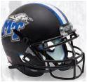 Middle Tennessee State Blue Raiders Full XP Replica Football Helmet Schutt <B>Matte Black</B>