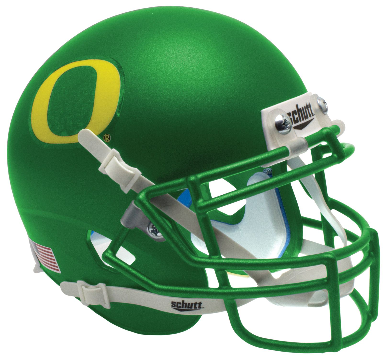 Oregon Ducks Mini XP Authentic Helmet Schutt <B>Apple</B>