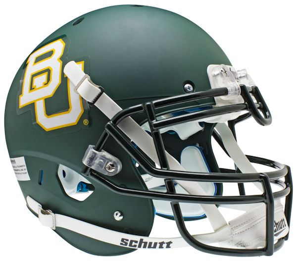 Baylor Bears Authentic College XP Football Helmet Schutt <B>Matte Green</B>