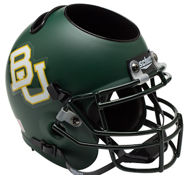 Baylor Bears Miniature Football Helmet Desk Caddy <B>Matte Green</B>