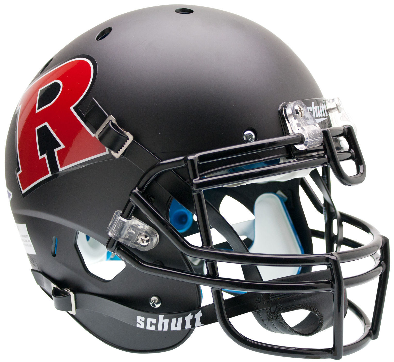 Rutgers Scarlet Knights Authentic College XP Football Helmet Schutt <B>Matte Black Red R</B>