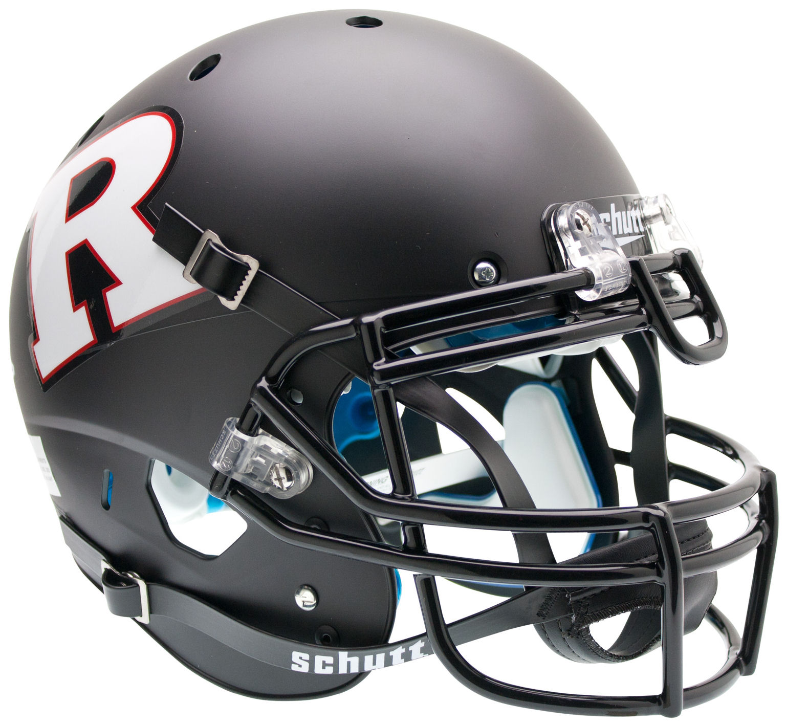 Rutgers Scarlet Knights Authentic College XP Football Helmet Schutt <B>Matte Black White R</B>