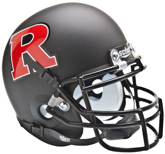 Rutgers Scarlet Knights Mini XP Authentic Helmet Schutt <B>Matte Black Red R</B>