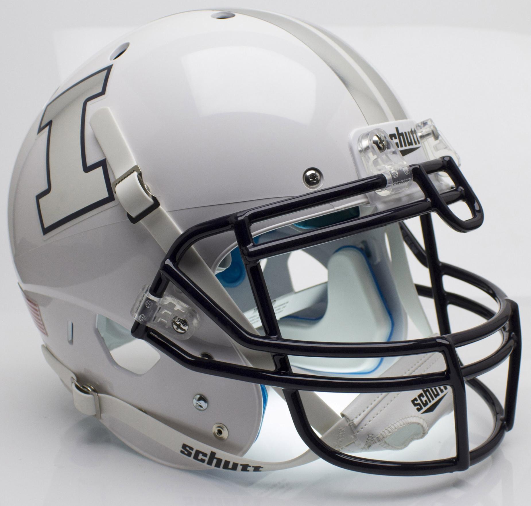 Illinois Fighting Illini Authentic College XP Football Helmet Schutt <B>Alt 4</B>