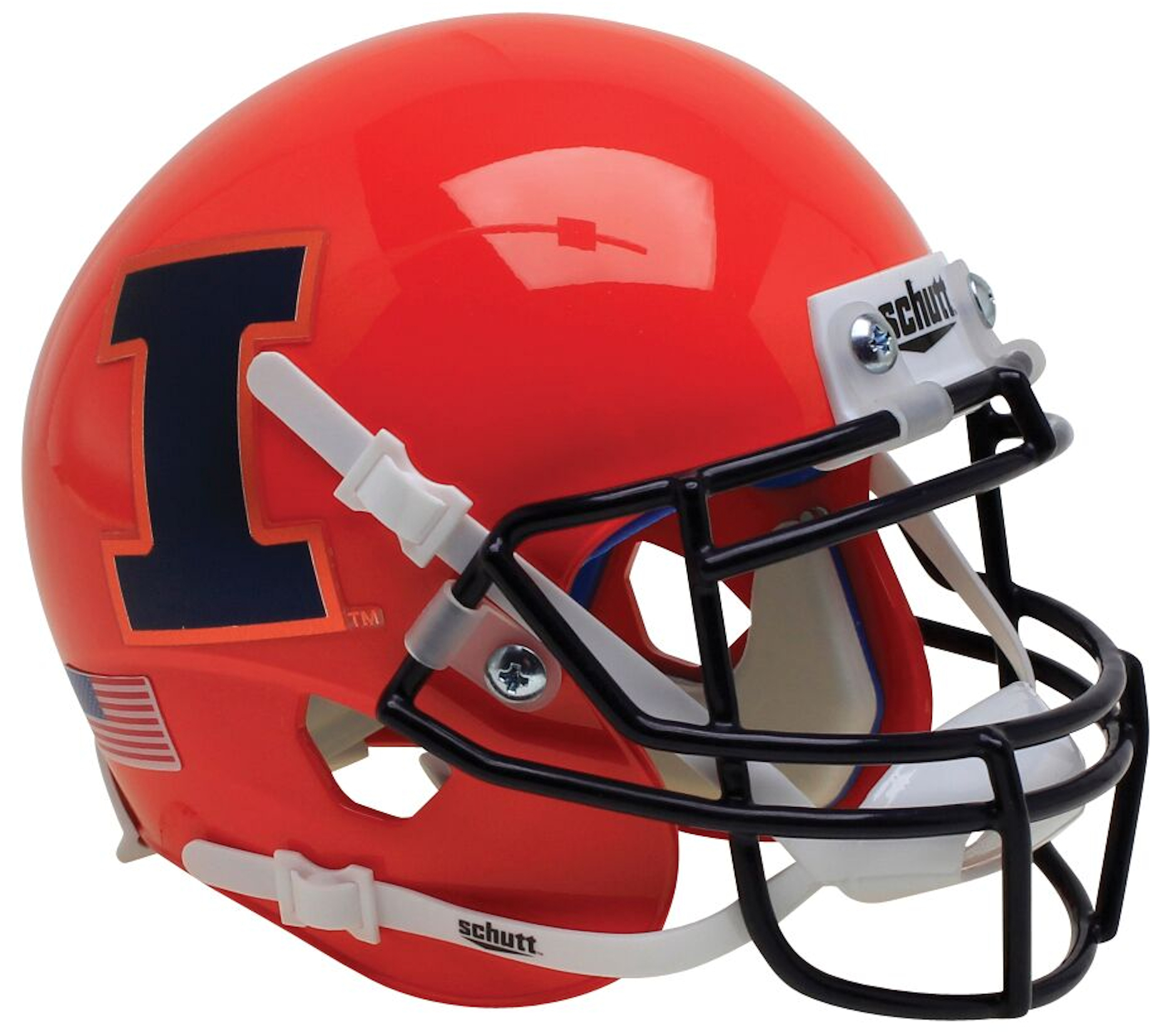 Illinois Fighting Illini Authentic College XP Football Helmet Schutt <B>Orange</B>