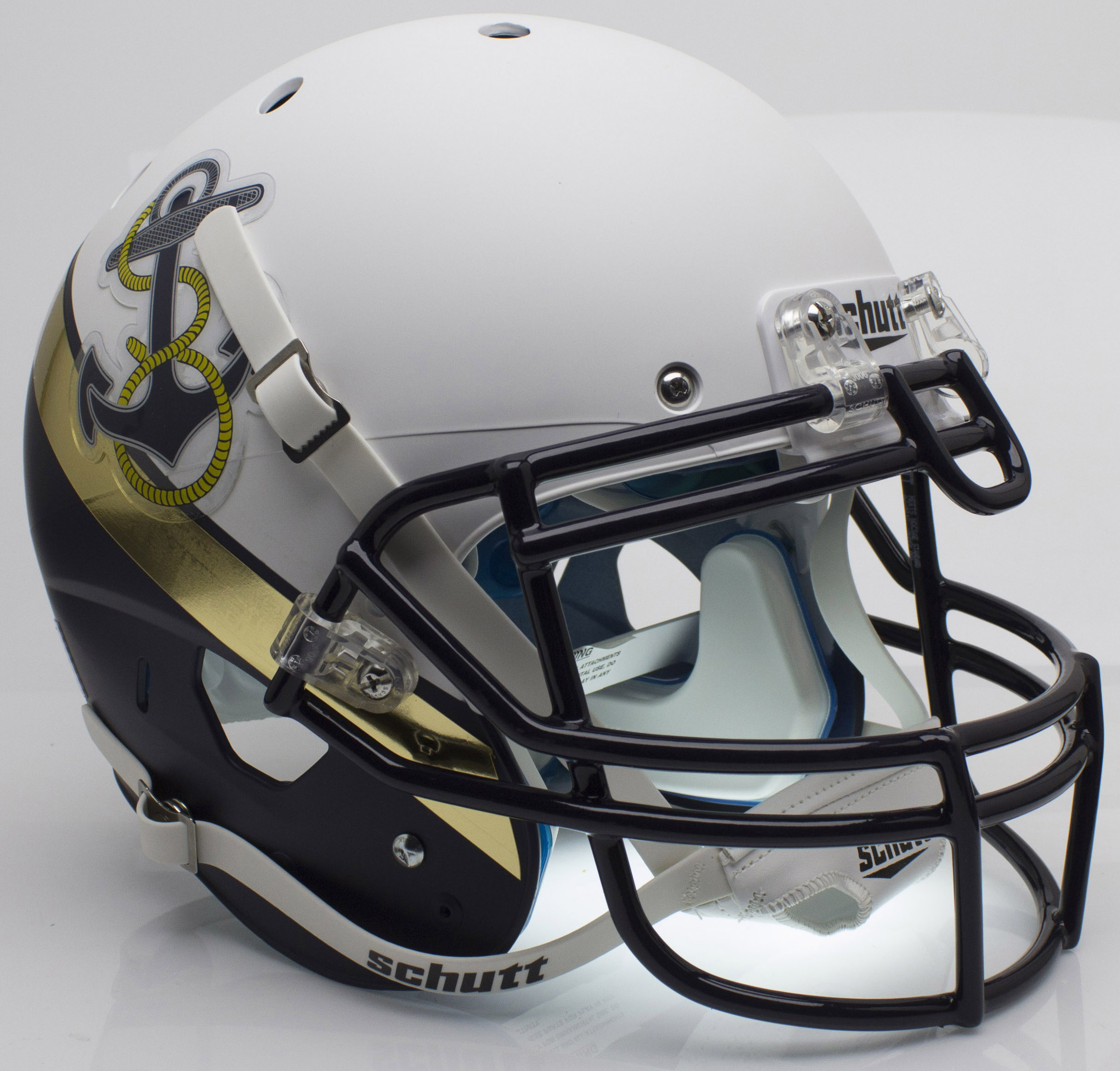 Navy Midshipmen Authentic College XP Football Helmet Schutt <B>2012 Special</B>