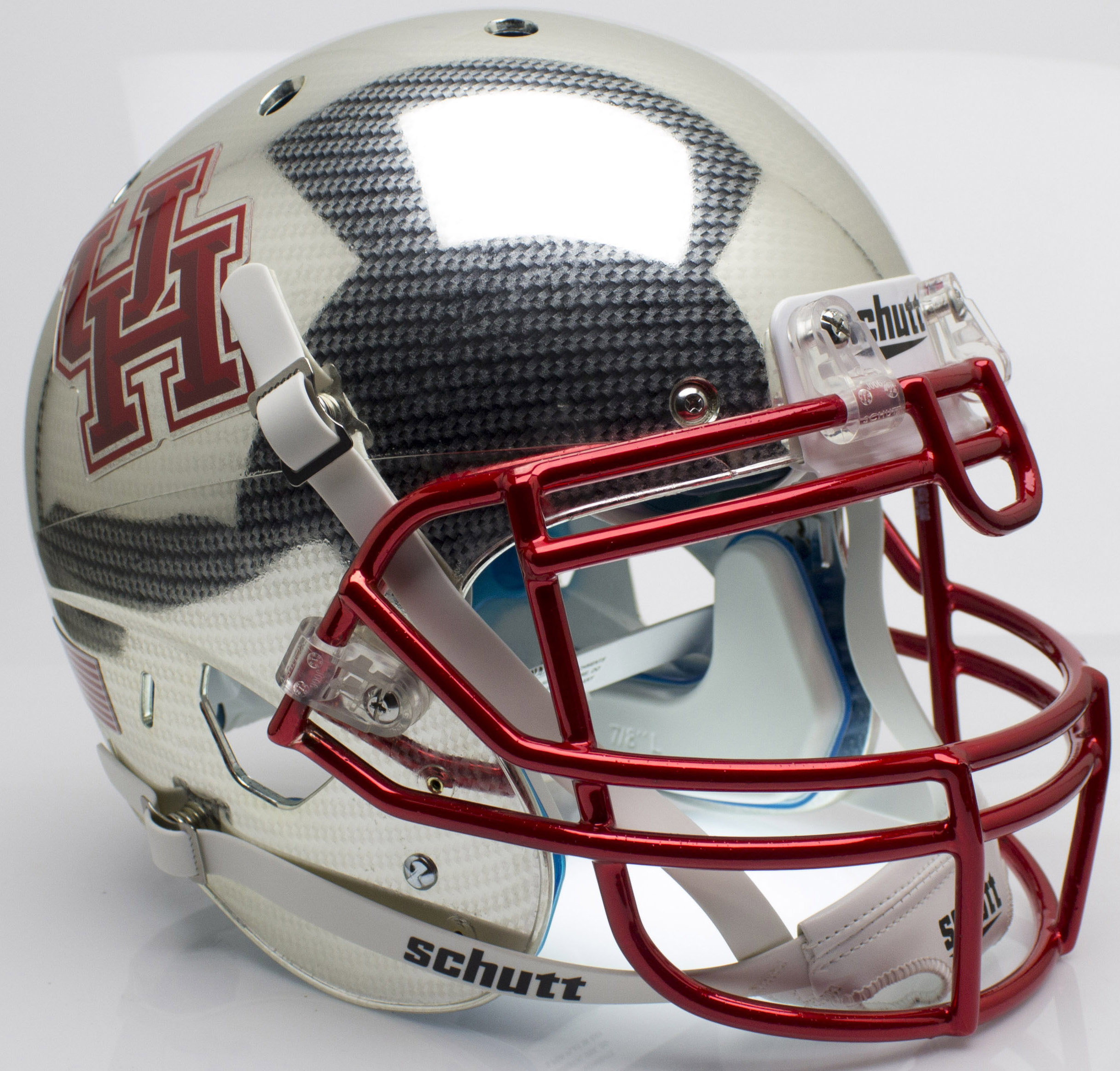 Houston Cougars Authentic College XP Football Helmet Schutt <B>Crosshatch</B>