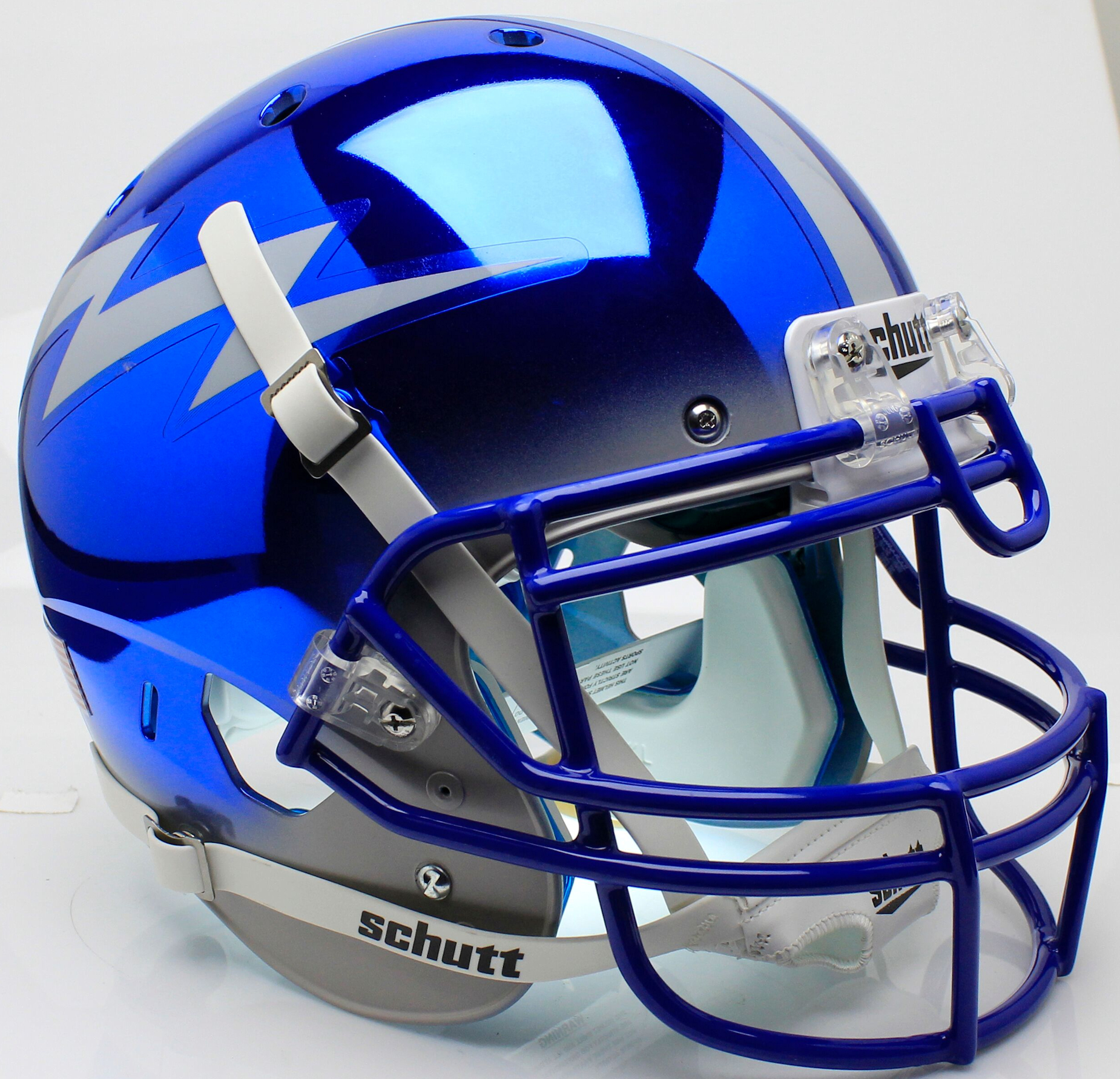 Air Force Falcons Authentic College XP Football Helmet Schutt <B>Chrome</B>