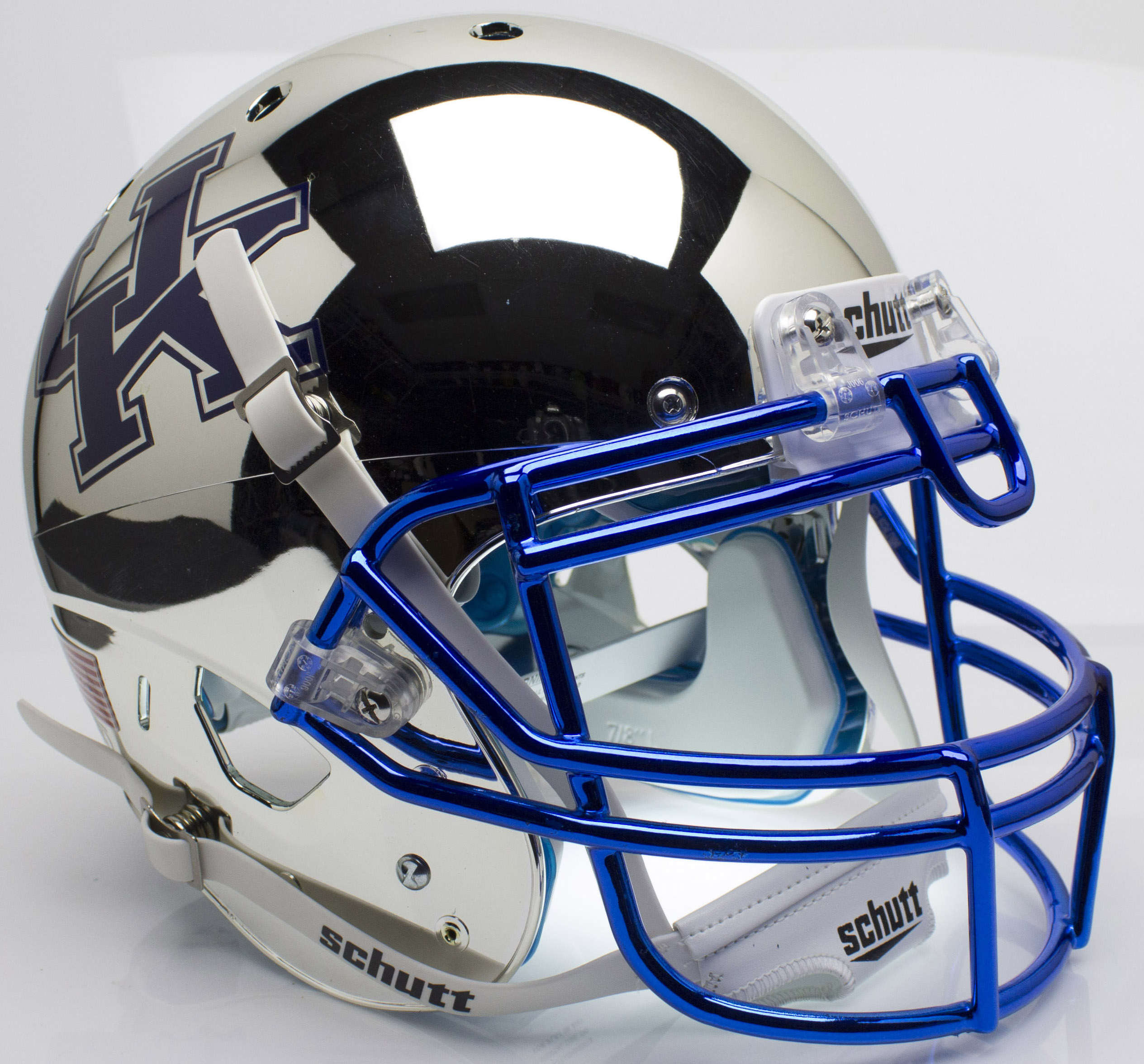 Kentucky Wildcats Authentic College XP Football Helmet Schutt <B>Chrome Silver</B>