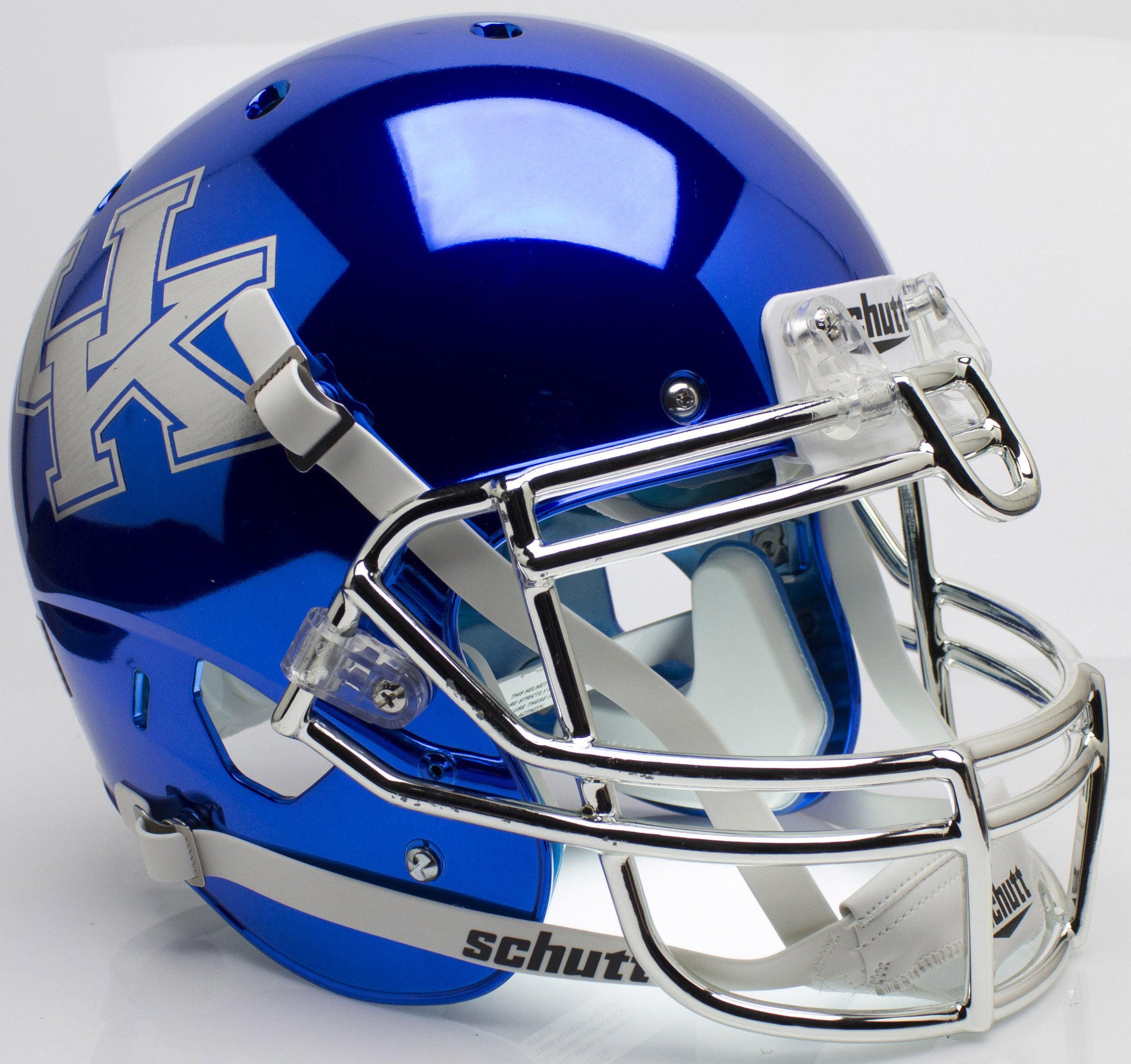 Kentucky Wildcats Authentic College XP Football Helmet Schutt <B>Chrome Blue</B>